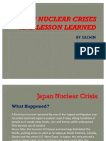 Japan Crises and Lesson Learned