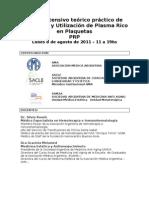 Plasma Rico en Plaquetas Agos 2011