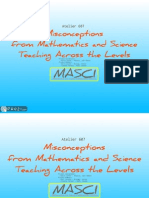 607 - Misconceptions from Mathematics and Science Teaching Across the Levels
