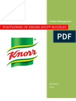 Product Man Knorr Positioning