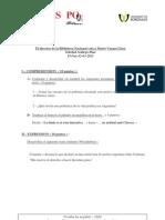 Espagnol Sciences Po Bordeaux Concours