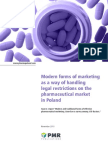 Wp 0875 Modern Forms of Marketing as a Way of Handling Legal Restrictions on the Pharmaceutical Market in Poland November 2010