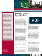 Addressing Pakistan's Sovereignty Deficit