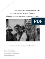 Privatization and liberalization of the extractive industry in Zambia – Implications for the resource curse