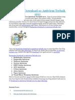 Kumpulan Download 10 Antivirus Terbaik 2011