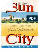 "Sun City, AZ Marketing Brochure - 1961-1965 - ""Del Webb's Sun City - Designed Exlusively for Active Retirement - Models 11-18"""