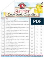 Summer Cookbook Checklist