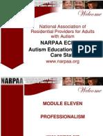 NARPAA E-Class Module 11 - Professionalism