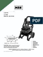 Craftsman Pressure Washer 580.767200