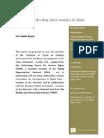 Media Report - E-Initiative to develop labor market in Sinai