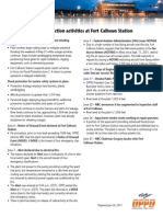Timeline of Flood-protection Activities at Fort Calhoun Station
