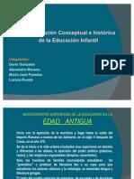 ANTECEDENTES   HISTÓRICOS DE LA EDUCACIÓN INFANTIL