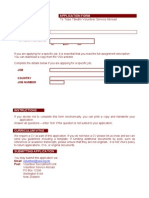 VSA Application Form March 2011