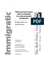 State and Local Taxes Paid in Colorado by Undocumented Immigrants, Bell Policy Center, 2006
