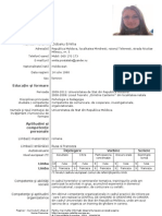 curriculum vitae europass completat asistent medical