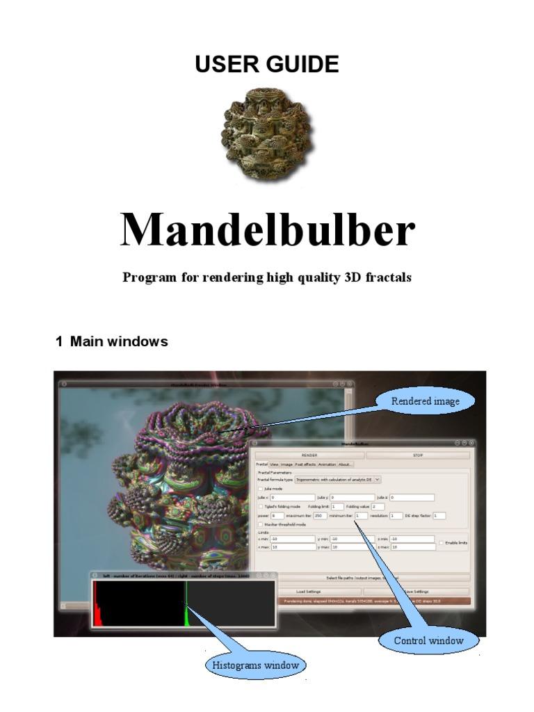 Mandelbulber User Guide | Rendering (Computer Graphics