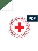 """Logo Croce Rossa Italiana """"convenzione di ginevra 22 agosto 1864"""""""