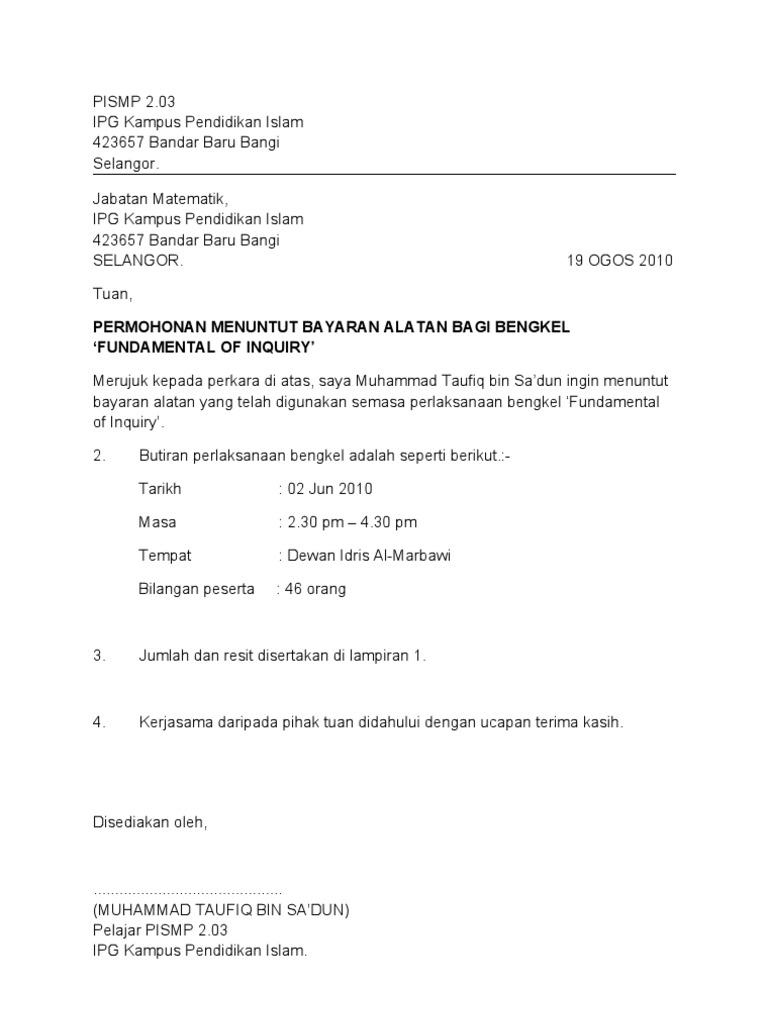 Contoh Surat Rasmi Kepada Kwsp - Dawn Hullender