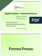 English Seminar - Industrial Processes
