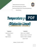 Lab Oratorio 2 de Fisica II Dilatacion Lineal