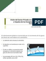 """Presentación del XVIII Congreso Comce-Puebla """"Visión del Sector Privado en el Desarrrollo e Impulso de las Energías Renovables"""" por el Dr. Luis Farías Martínez"""