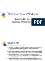 Grammar Basics Workshop(June 2011)