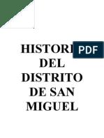 Historia Del Distrito de San Miguel