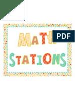 Math Stations New