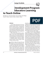 A Faculty Development Program for Nurse Educators Learning to Teach Online