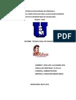 Informe Tecnico Final de Pasantias_alejandra Roa