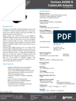 Corinex AV256 G CAbleLAN Dapter_datasheet