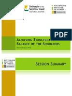 Structural Balance of Shoulders