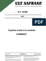NT 2433E - Safrane GPS Carminat Phase 1