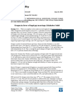 Gay Marriage in Oregon Poll 2011