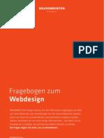 """Briefing Fragebogen """"Webdesign"""" von der Hamburger Werbeagentur BRANDMEISTER DESIGN"""