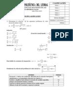 Examen Resuelto-Ecuaciones Diferenciales XD (Calculo 3)