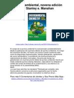 química ambiental novena edición por stanley e manahan - averigüe por qué me encanta!