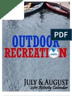 Outdoor Recreation July/August Activity Calendar