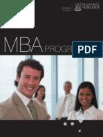 University of Adelaide MBA Program Brochure