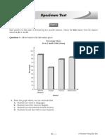 English Form 1 Midterm Specimen Test & Answers