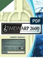 Time Warp 2600 Manual
