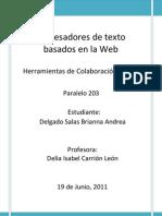 Procesadores de Texto Basado en La Web