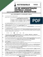 TARDE - PROVA 21 - TECNICO DE ADMINISTRAÇÃO E CONTROLE JÚNIOR