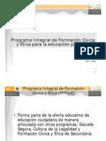 Programa Integral de Fc y e Primaria 2008