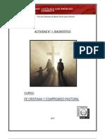 ACTIVIDAD 1 FE CRISTIANA Y COMPROMISO PASTORAL