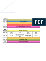 Timetable Final Saturday