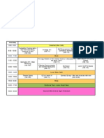 Timetable Final Thursday