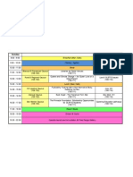 Timetable Final Tuesday