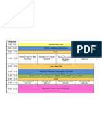 Timetable Final Wednesday