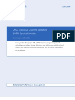 AMR Research 2009 Executive Guide to Selecting BIPM Service Providers[1]